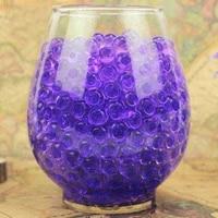 Perles deau de sol en cristal Transparent  100 pieces  boules de Gel Bio pour fleurs  ornement de maison  culture de plantes  decoration E