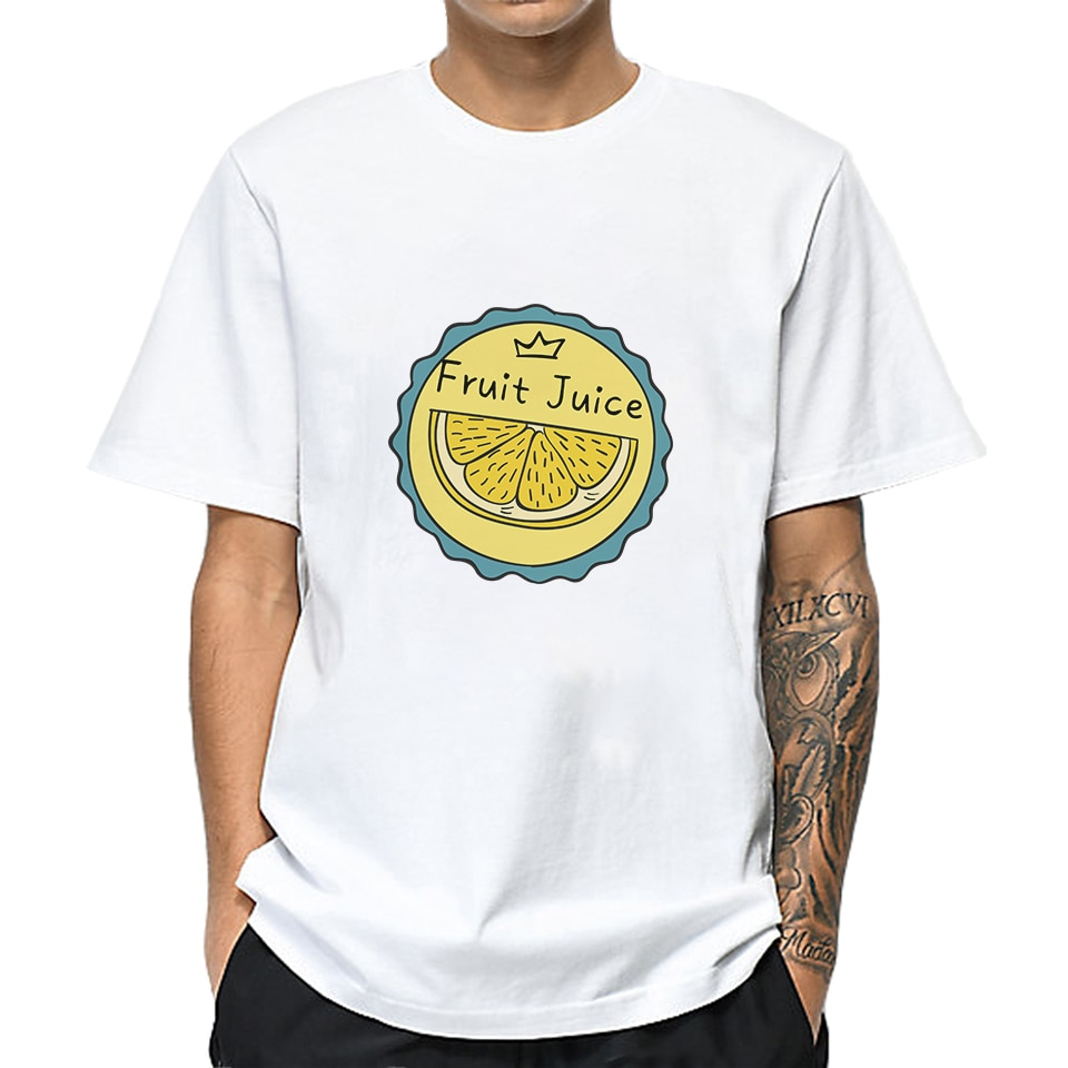 Mootsharp naranja etiqueta hombres algodón camisetas verano Casual camiseta Tops manga corta Harajuku novio regalo Unsiex ropa