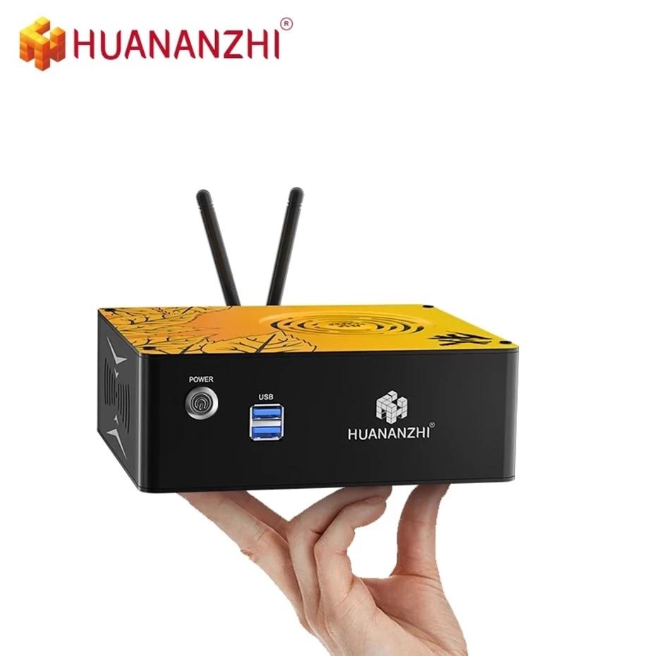 HUANAZHI MINI H1/H2/H3 1080P PC i3 i5 إنتل كور CPU 4GB 8GB RAM 128 256GB ROM ويندوز 10 كمبيوتر مكتبي HDMI-متوافق VGA