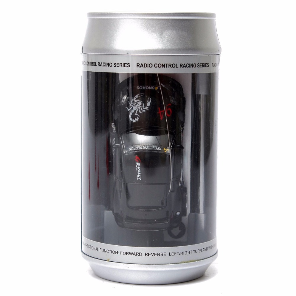 Mini RC Racer Cola Can Car Indoor Radio Remote Control Vehicle 27/40Mhz Micro Class Play Game Toy Small Gift to Young Boy enlarge