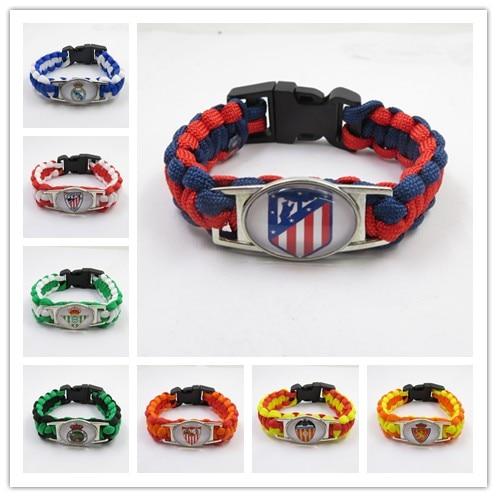 Infinito amor Atlético pulsera Madrid real pulsera Madrid colgante de pulsera Bilbao brazalete agradable Real Betis pulsera para hombres y mujeres