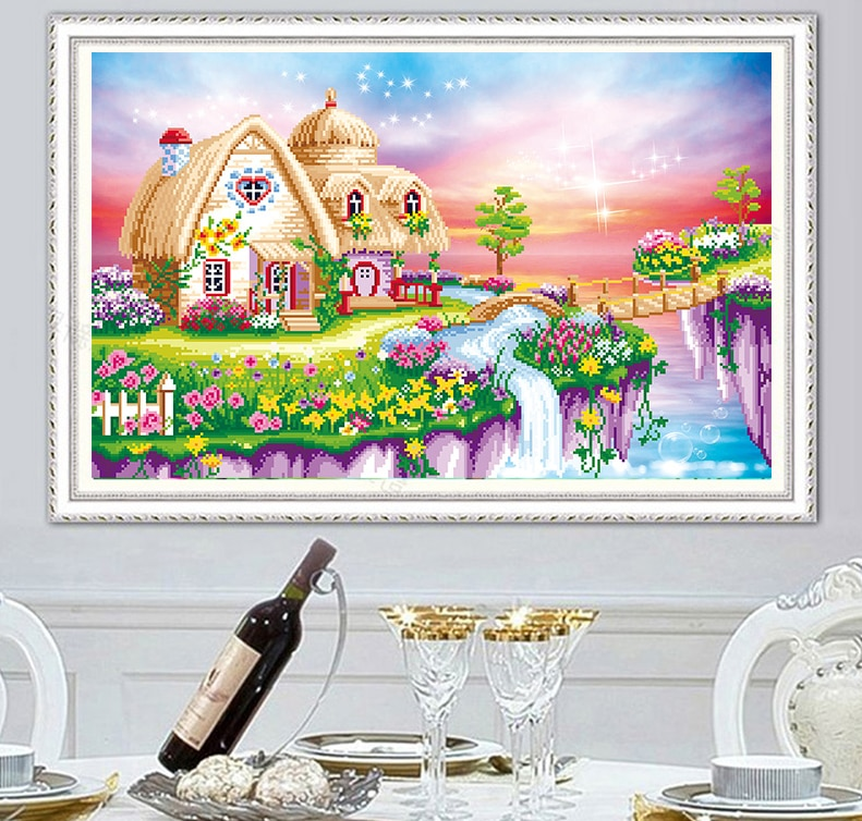 5D DIY Diamond Painting Landscape house Cross Stitch Home Decoration Embroidery Scenery Handmade Gift