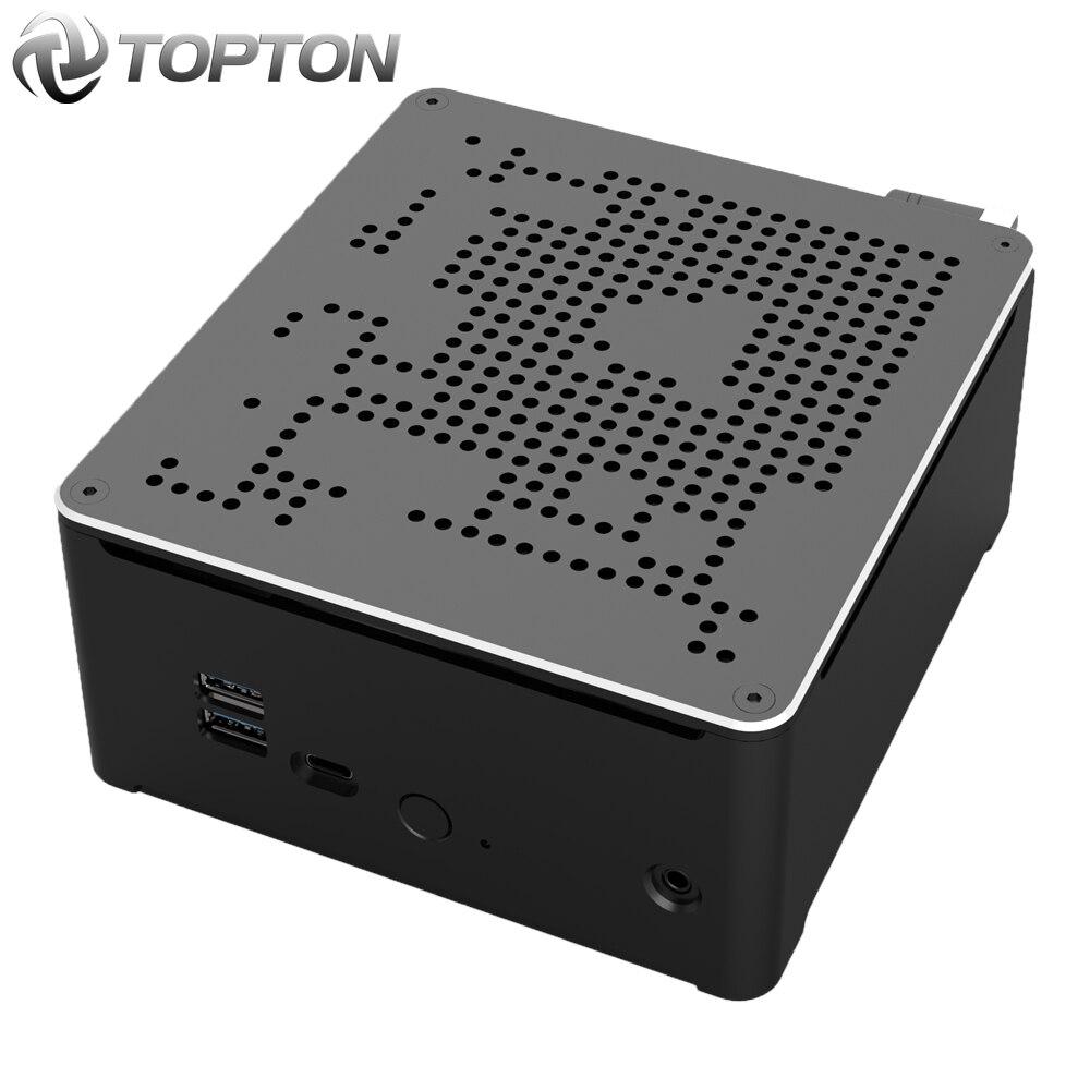 Mini PC Intel i9 9980HK i9 9880H i7 9850H 2 LAN 2 * DDR4 64GB 2 * M.2 PCIE + 1*2,5 SATA computadora de juegos Win10 Pro 4K HDMI DP AC WiFi