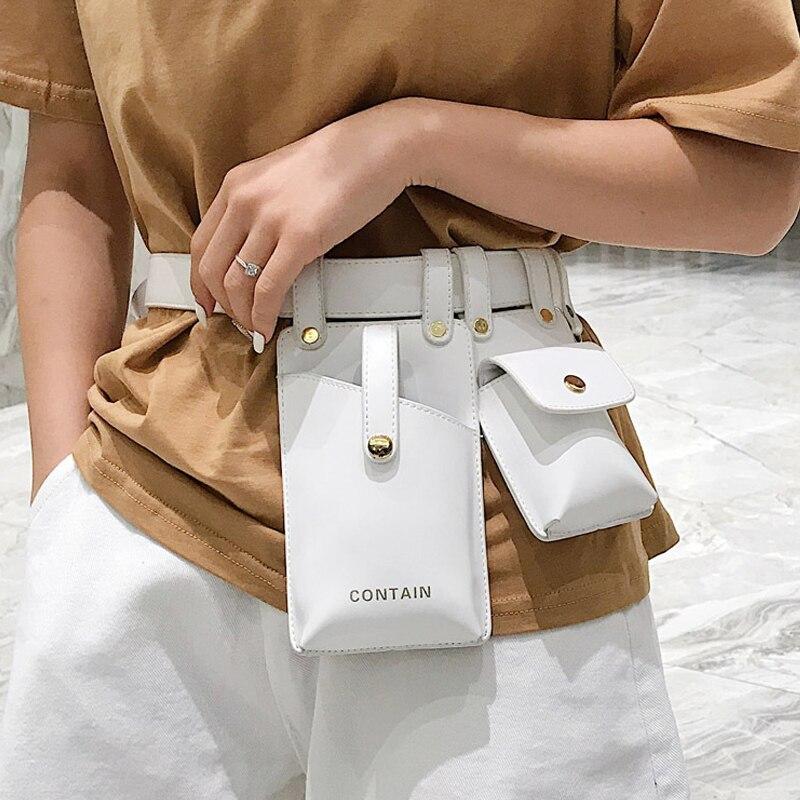 Riñonera de cuero para mujer, bolsa de cinturón de cuero, Popular, bolsa de cintura inclinada, bolsa de pecho para mujer