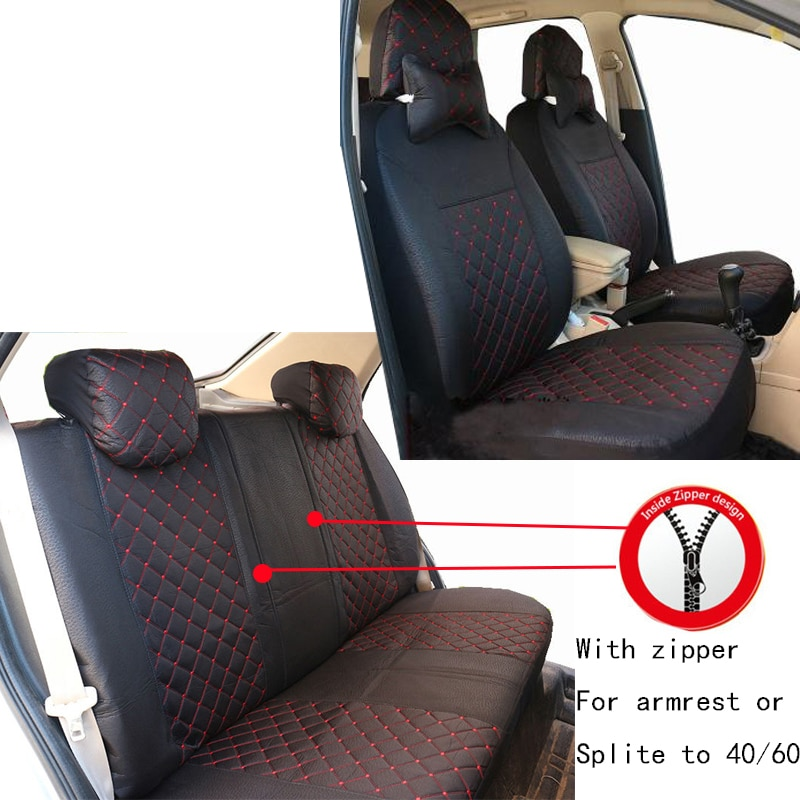 Carnong Car Seat Cover Universal Fabric Rear Seat 40/60 50/50 splited armrest available Hatchback sedan automotive accessories