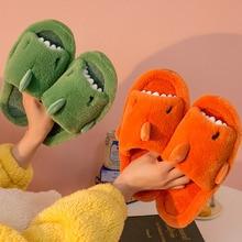 Women Slippers Open Toe Warm Plush Cartoon Animal Home Cotton Slipper Lady Couple Lovely Comfortable