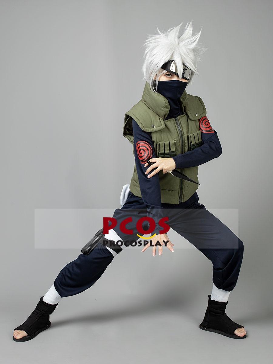 Procosplay Jonin Shinobi Cosplay chaleco Naruto Konoha traje Kakashi Top envío gratis y traje de alta calidad 002998