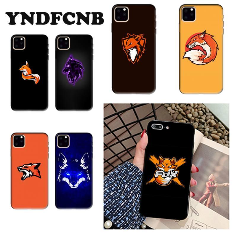 Yndfcnb raposa mascote esport logo capa de telefone bonito para o iphone 8 7 6s plus x xs max 5 se 5S xr 11 12 pro promax