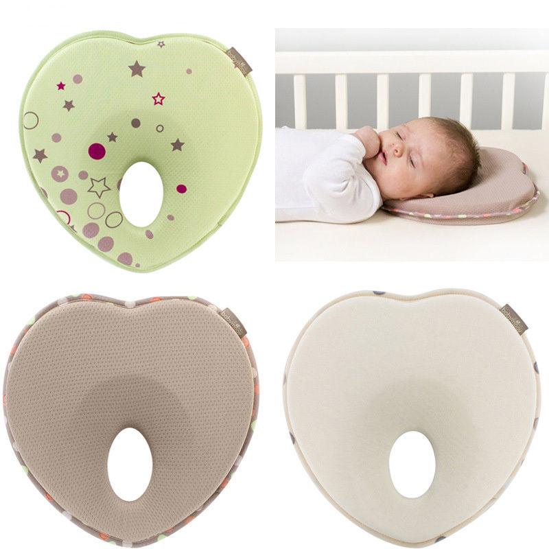 Newborn Infant Anti Roll Baby Nursing Pillow Flat Head Neck Prevent Pillows Baby Boys Girls Heart Rest Support Gift