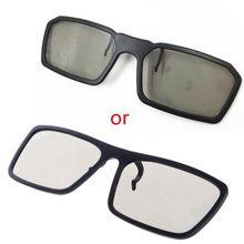 OOTDTY Clip-Auf Typ Rund Passive Polarisierte 3D Gläser Für TV Echt 3D Kino 0,22mm