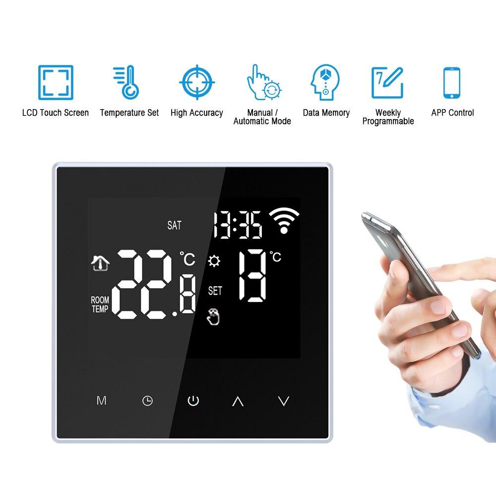 وحدة تحكم ذكية في درجة الحرارة WiFi لتدفئة الأرضية الكهربائية ، غلاية مياه/غاز مع شاشة Lcd ، تحكم عن طريق التطبيق