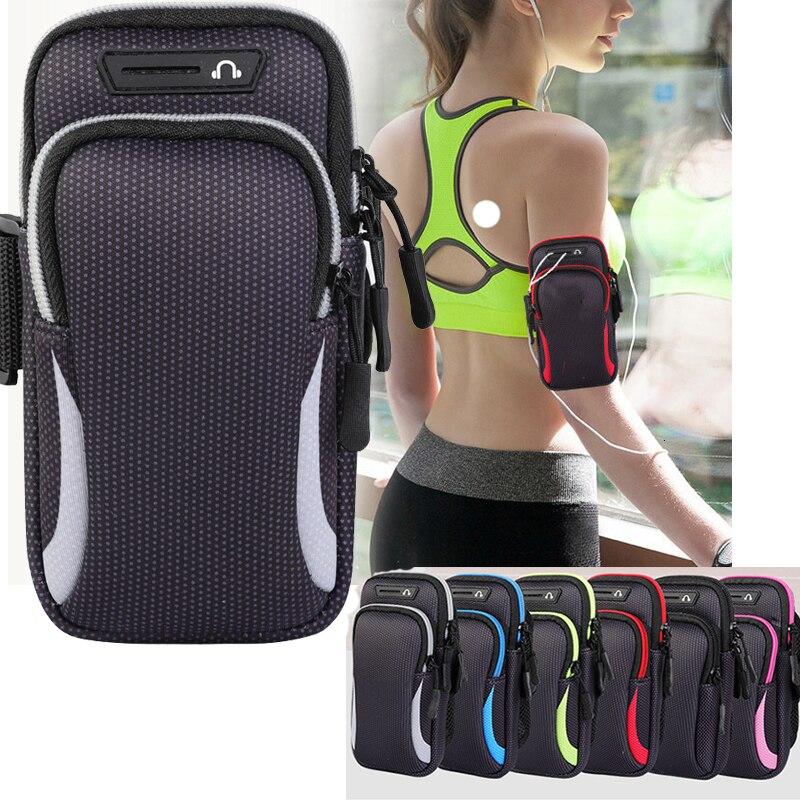 """Водонепроницаемый спортивный чехол для телефона IPhone Pro Max для Samsung Huawei 6,5 """"Универсальный спортивный чехол для телефона с ремешком для бега"""