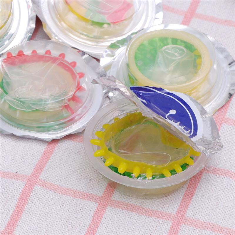 24 pçs colorido flor natural látex preservativos seguro pênis manga adulto sexo vida suprimentos ultra-fino produtos de saúde (flor pequena)