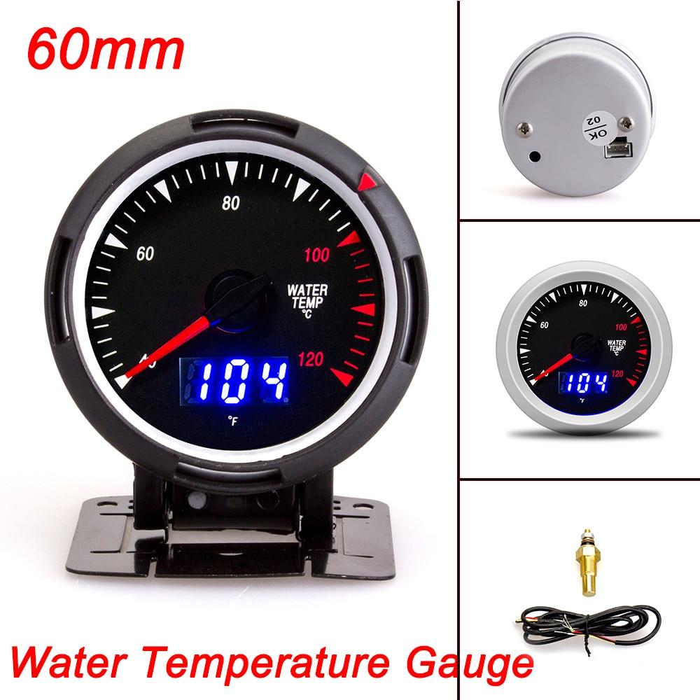 Calibre de 60MM, medidor de temperatura del agua, Sensor de presión de aceite, medidor de temperatura Ext, Turbo, medidor de impulso PSI, soporte para taza de medidor de coche