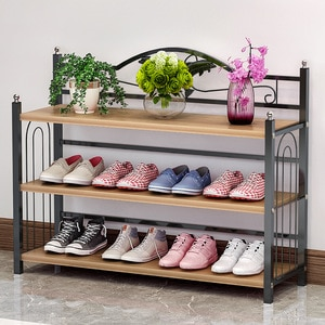 Simple shoe racks for household use multi-layer economy shoe cabinet door dust storage shelf