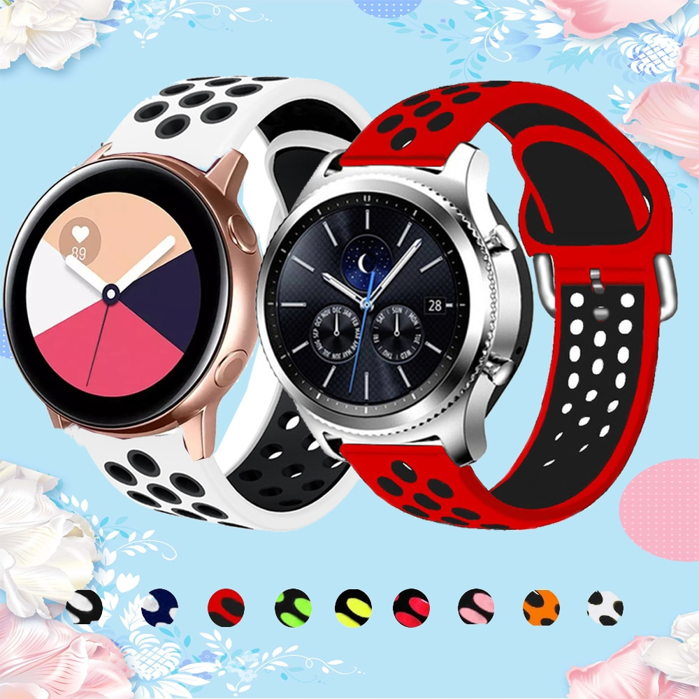Pulsera de silicona de 20mm para Samsung Galaxy Watch Active 2, banda...