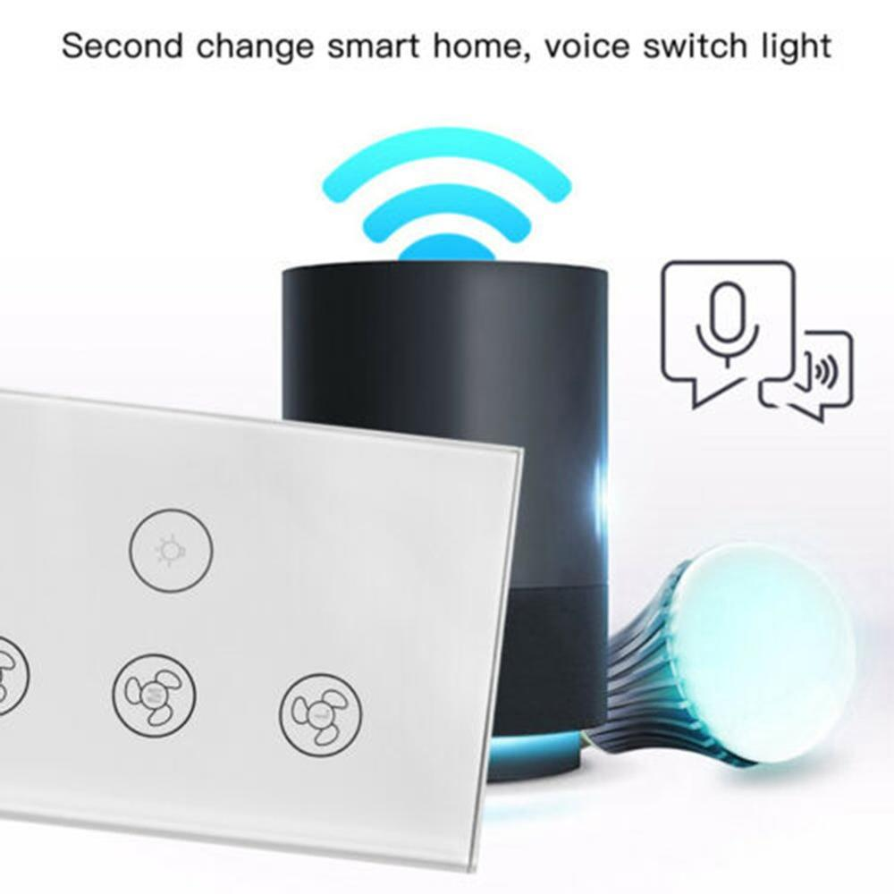 digoo dg f1101 touch screen spray fan remote control speed adjustable ultrafine spray multifunction home fan home appliance EU WiFi Smart Ceiling Fan Wall Touch Switch APP Remote Timer and Speed Control Glass Panel For Alexa and Google Home Fan Parts