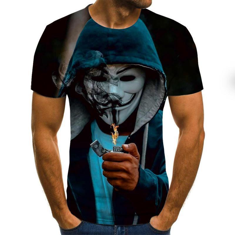 Лидер продаж, футболка с клоуном для мужчин и женщин, модные 3D футболки с принтом лица Джокера, ужасные футболки, размер XXS-6XL