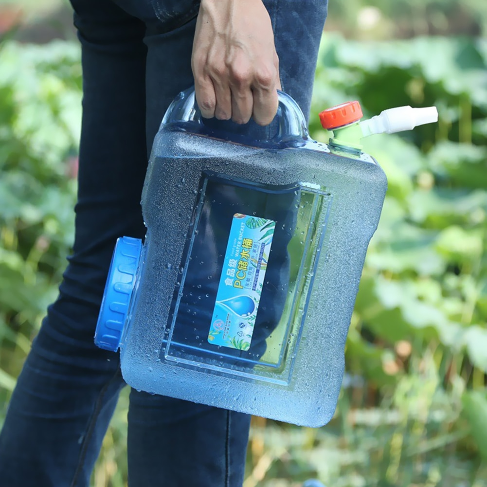 5/10/12L Tragbare Wasser Eimer Fahren Reines Wasser Tank mit Wasserhahn Container für Outdoor Camping Kochen Produkte