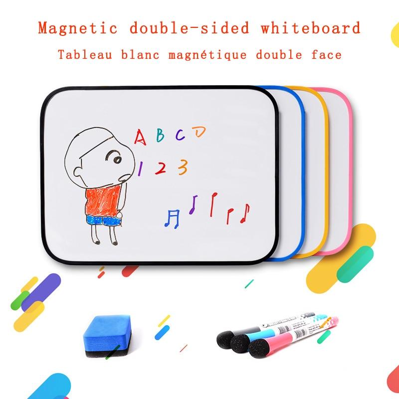 Магнитно-маркерная доска со стирающимися чернилами Двусторонняя маркерная доска сообщений письменной форме для детей мини-доски для запис...