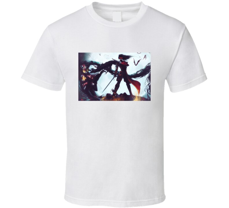 Hombres camiseta Hellsing Anime T camisa camiseta mujer t camisa