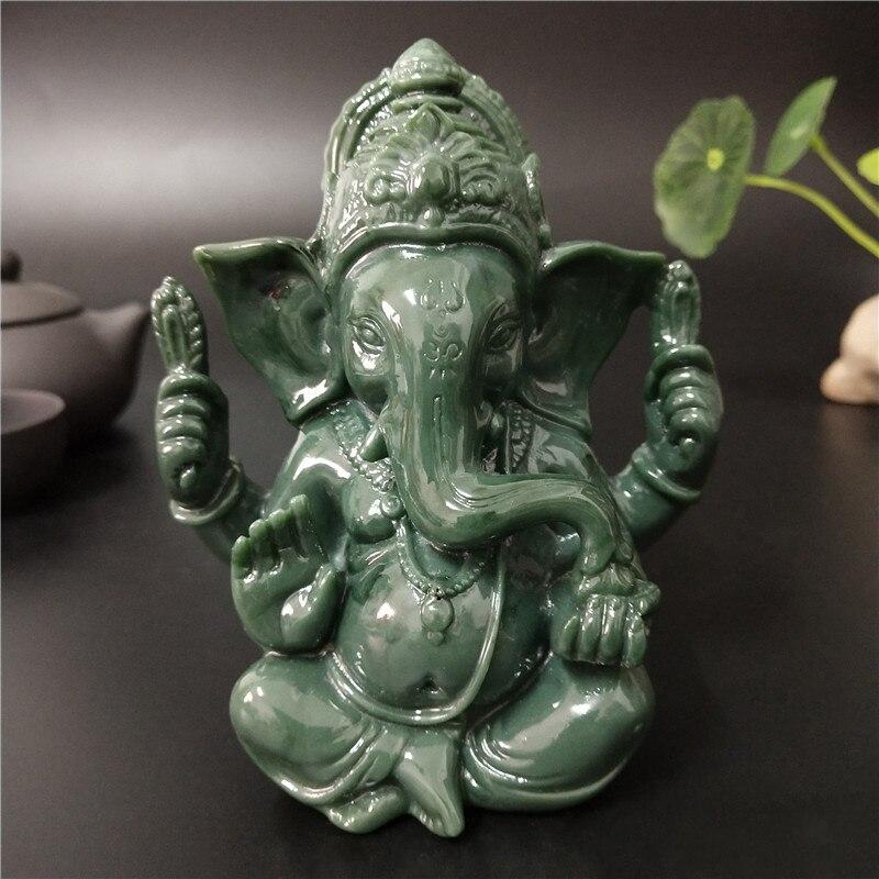 Piedra artificial de Señor Ganesha estatua India Buda elefante Dios Ganesh esculturas casa Oficina decoración de jardín estatuas de Buda