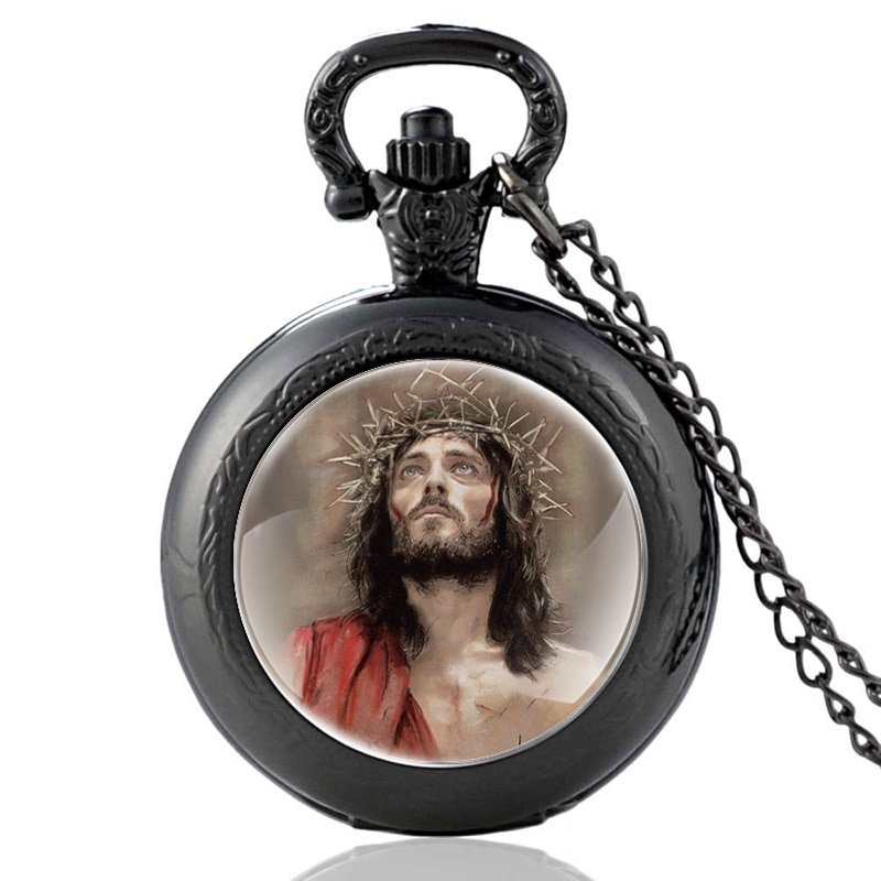 Christ Jesus Wearing A Crown Of Thorns Design Quartz Pocket Watch Men Women Pendant Necklace Hours Clock Gifts tshepo moloi place of thorns