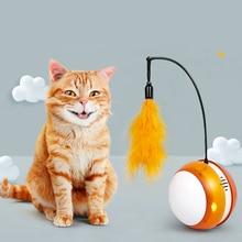 Jouet chat animal de compagnie électronique intelligent   Obstacles à détection automatique, nouveauté Rechargeable, roulement de Flash, bâton de chat électrique couleur