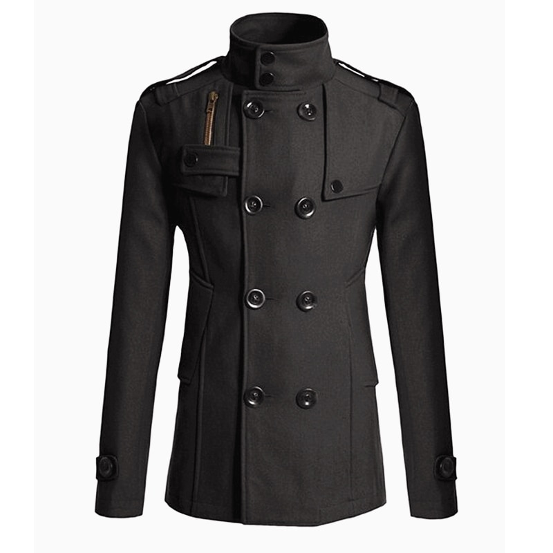 MRMT 2021 Brand New Men's Mao Wool Overcoat for Male Long Suit Woolen Windbreaker Men's Coat Outer W