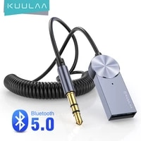 kuulaa aux bluetooth adapter dongle cable for car 3 5mm jack aux bluetooth 5 0 receiver speaker audio music wireless transmitter