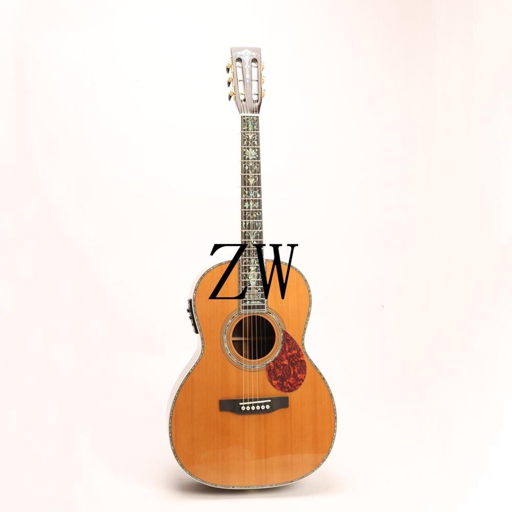 جيتار أكوستيك كهربائي عالي الجودة ، لاقطات فيشمان MD00045 ، خشب التنوب الأحمر الصلب ، صوت جيد ، صامولة وصدج ، كامل Aba