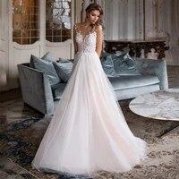 charming sweetheart weddding dresses 2021 lace appliques sleeveless a line sweep train bridal gowns for women robe de mari%c3%a9e
