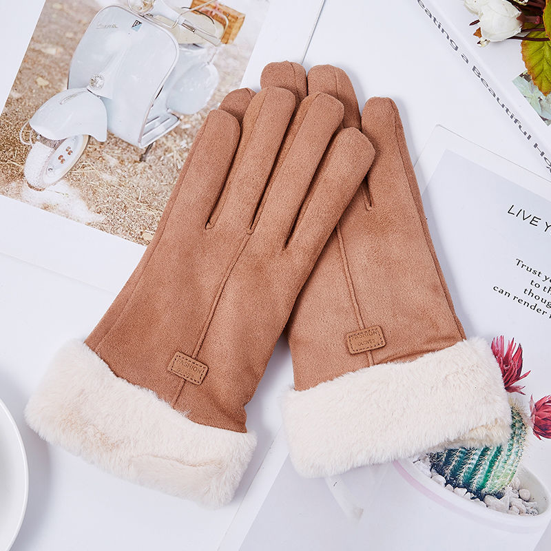 low temperature resistant gloves liquid nitrogen lng natural gas ice storage antifreeze thick warm cold gloves for adult Knitted gloves women winter plus velvet warm gloves thick suede outdoor riding cold-proof wool touch screen gloves
