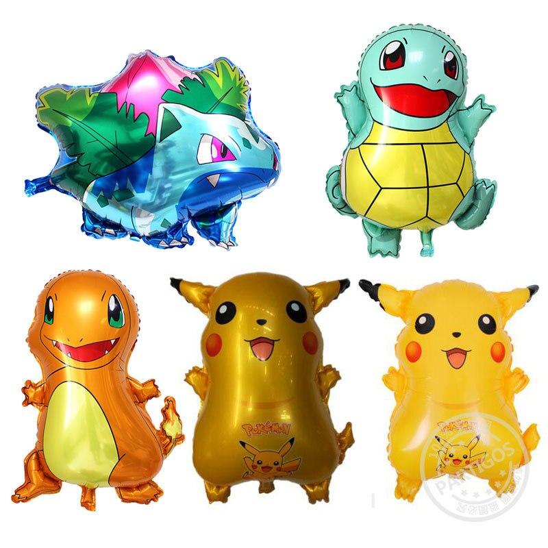5pcs-pokemon-balloon-kids-balloon-toy-pikachu-squirtle-action-figure-pokemon-elf-ball-kids-birthday-toy-cartoon-balloon