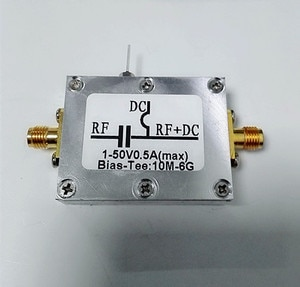 RF Splitter Bias Coaxial Feed Bias Tee 10MHz-6GHz Low Insertion Loss