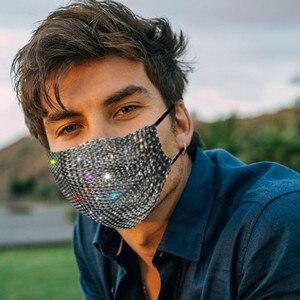 Новая модная маска для маскарада с кристаллами женские ювелирные изделия для вечерние рыболовная сеть металлическая блестящая маска для лица Стразы кисточками