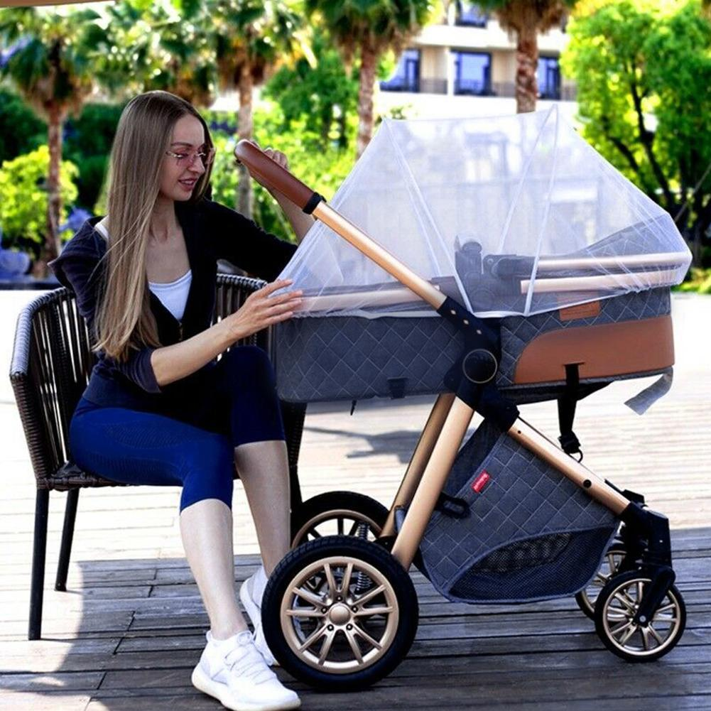 High Landscape Two-in-one Multifunctional Baby Stroller Shock Absorber Foldable Newborn Basket Trolley