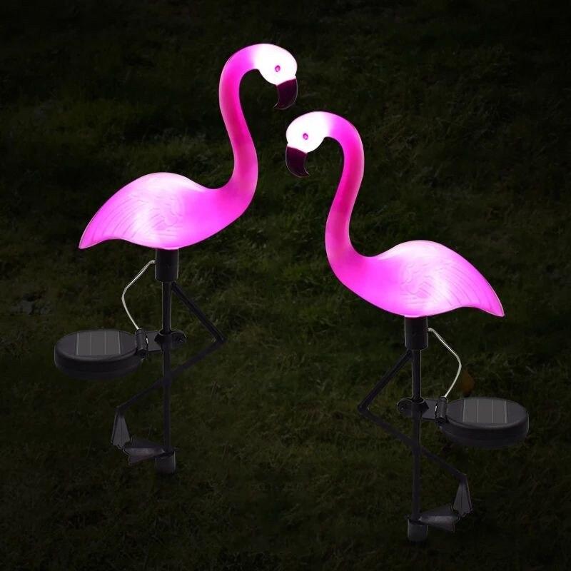 Solar Flamingo Lamp Bird Led Lawn Light Outdoor Courtyard Garden Decoration Waterproof Patio Pathway Landscape