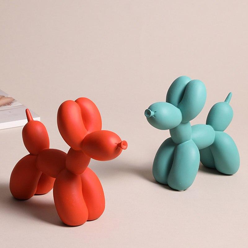Escultura de resina con forma de globo para perro, decoración moderna para el hogar, decoración nórdica para el hogar, accesorios para el salón, figuras de animales en 6 colores