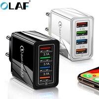 Olaf 48 Вт быстрое зарядное устройство 3,0 USB зарядное устройство для iphone Samsung Tablet EU US Plug настенный мобильный телефон зарядное устройство адаптер...