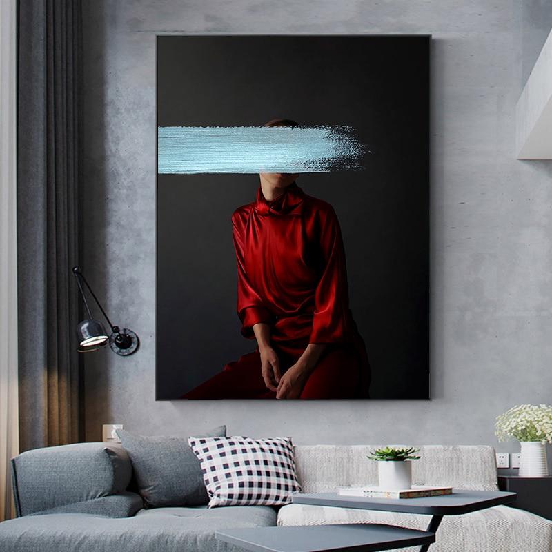 DDHH художественный Рисунок на холсте, картина на стену, красивый принт для гостиной, домашний декор, без рамки