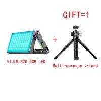 vijim r70 portable full color rgb slr as the fill light micro single camera photograph vlog lighting lamps