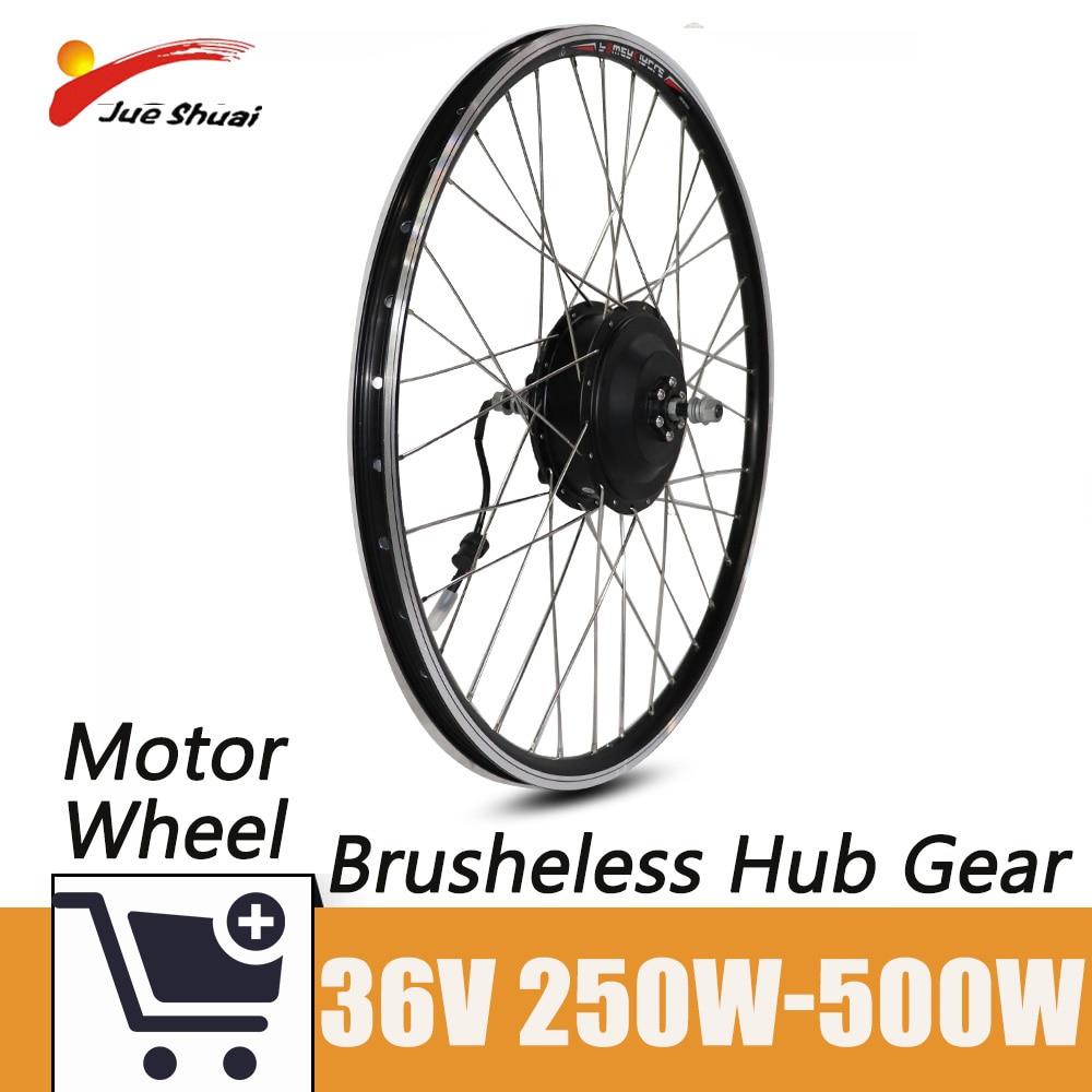 Kit de conversión de bicicleta eléctrica, Motor sin escobillas, 20-29 pulgadas, 700C,...