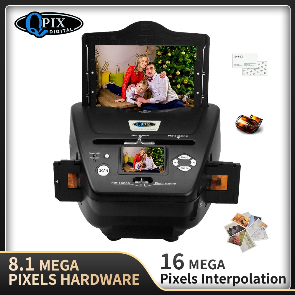 Escáner Digital de película fotográfica 4 en 1, convertidor de 35mm, 135,...