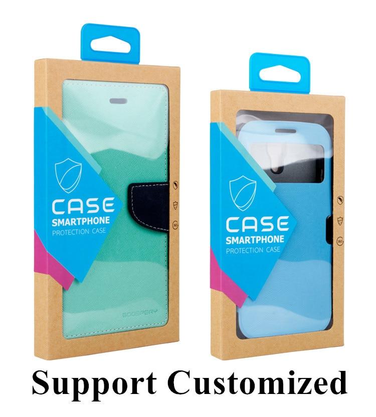 200 Uds. Caja de embalaje transparente de Papel Kraft para OnePuls 6 funda para Samsung S10 S10 Plus funda transparente para móvil