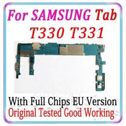 100% original desbloqueado para samsung galaxy tab t330 t331 placa mãe com chips completos lógica testado boa placa de trabalho mb
