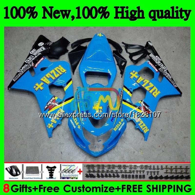 K4 Body For SUZUKI GSX-R750 GSXR 600 750 R750 04 05 36BS.30 GSXR-600 GSXR600 600CC 750CC GSXR750 2004 2005 Fairing RIZLA blue