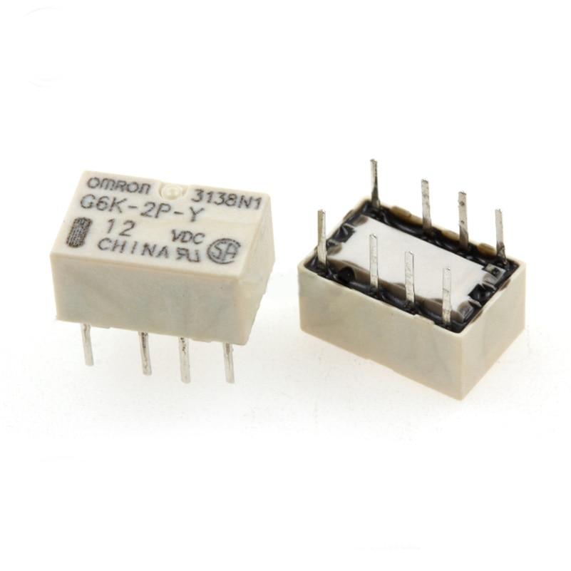 HOT NEW 12V relé G6K-2P-Y-12VDC G6K 2P Y 12VDC G6K2PY12VDC DC12V 12VDC 12V Inline 8PIN