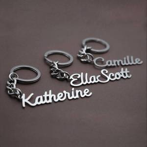 Lateefah Custom Keychain Gifts For Husband Wife Boyfriend Girlfriend Valentines Customize English Name Keychains For Him