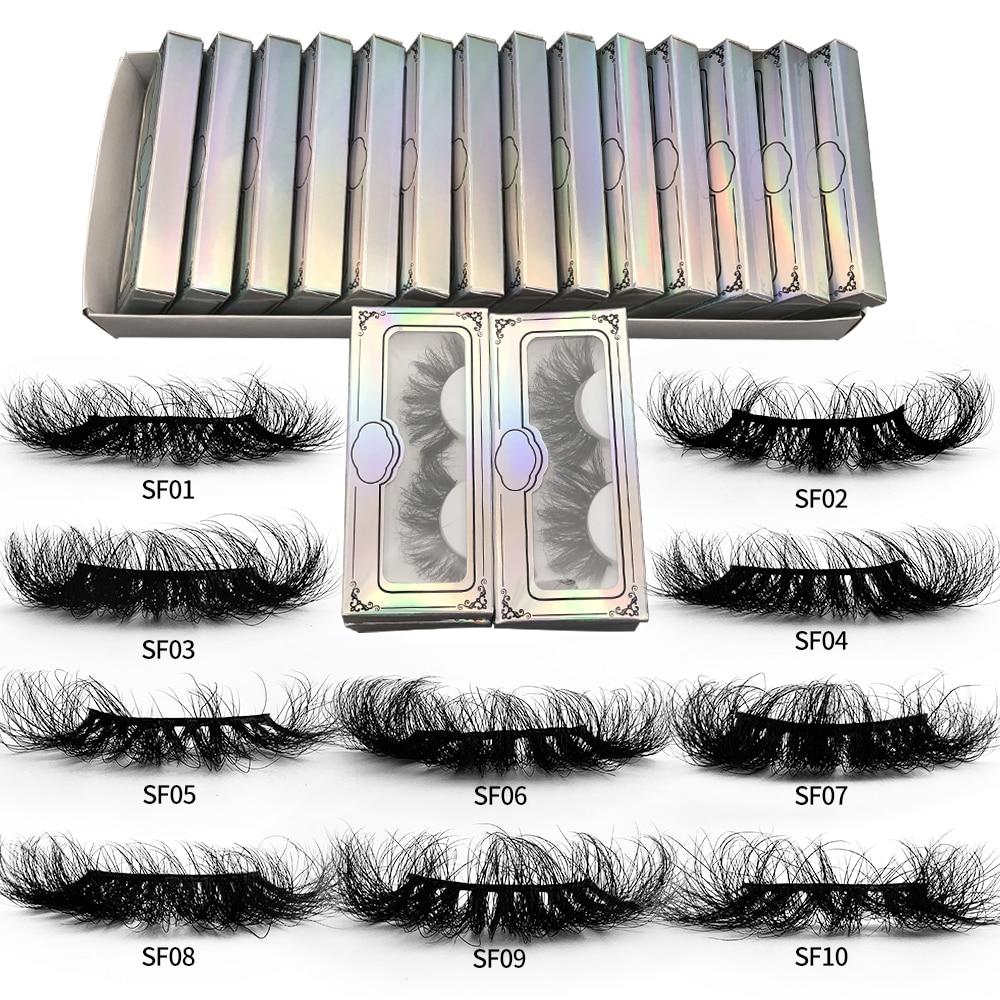 Ресницы Rainsin оптом, пушистые норковые волосы, диаметром 25 мм, норковые ресницы Wispy оптом с упаковкой, набор нечистоплотных норковых ресниц